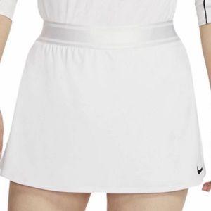 Nike Dri Fit White Tennis Skirt